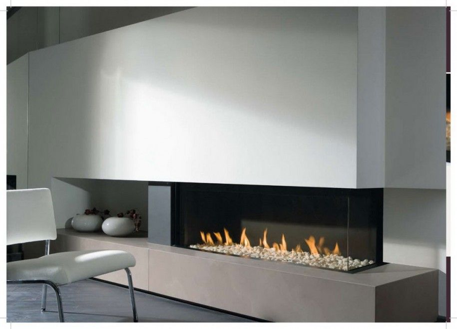 Simple contemporary fireplace inserts inexpensive for Contemporary ventless gas fireplaces