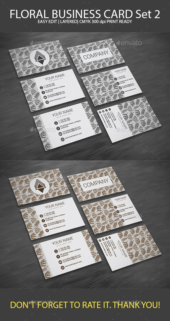 Floral business card set 2 business cards print templates and floral business card set 2 business cards print templates download here https cheaphphosting Gallery