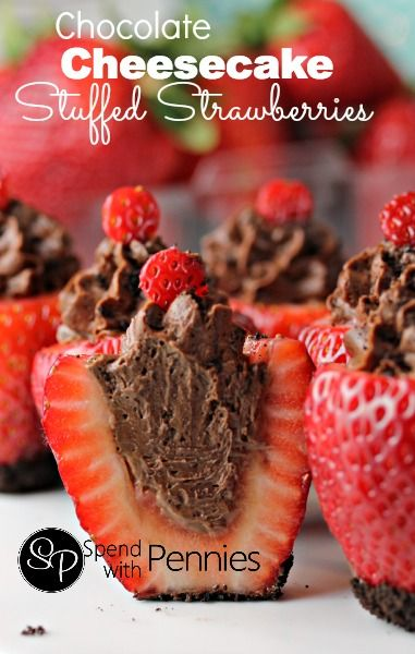recipe: cheesecake stuffed strawberries pinterest [30]