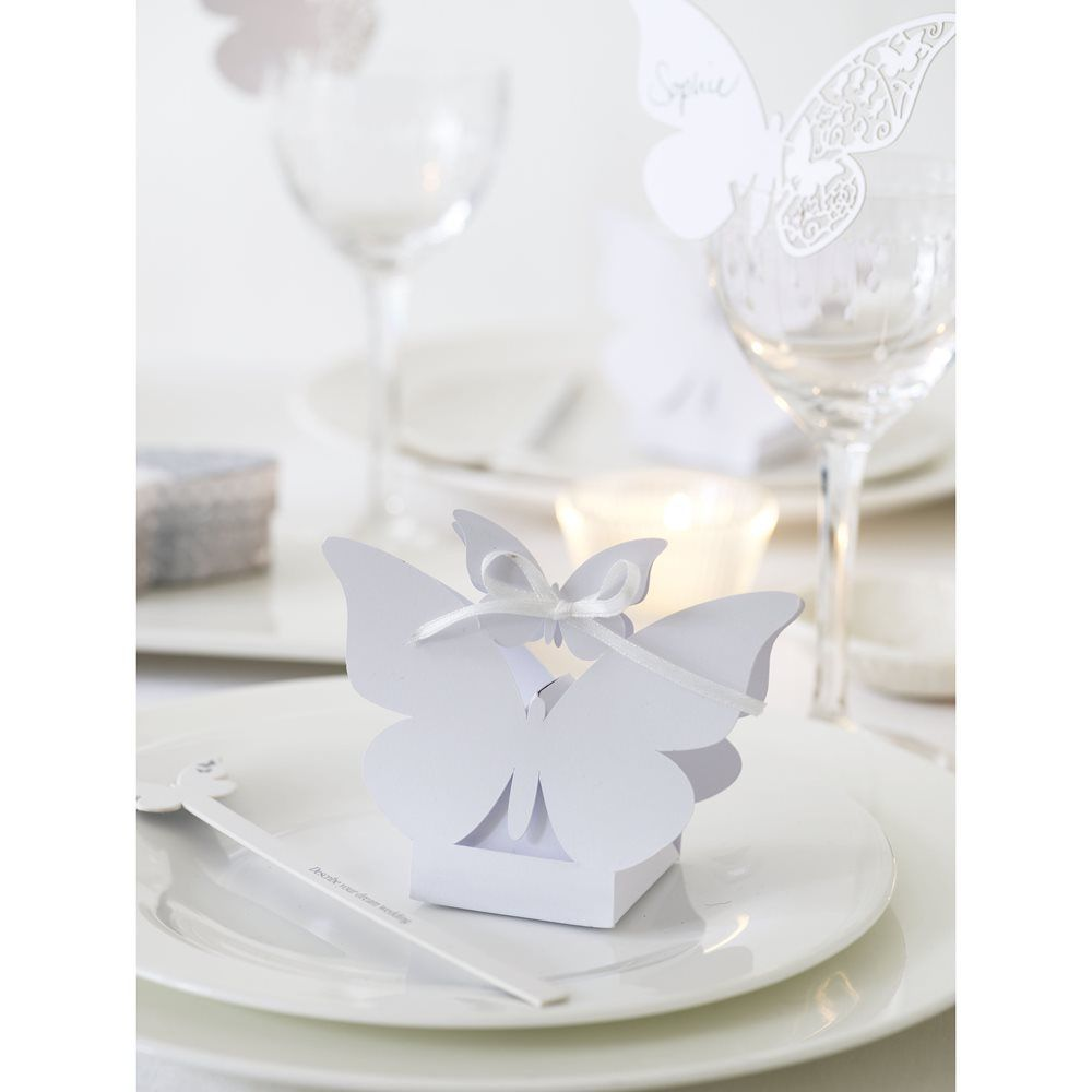 Butterfly wedding favour boxes - Low cost Wedding favour ideas, DIY ...