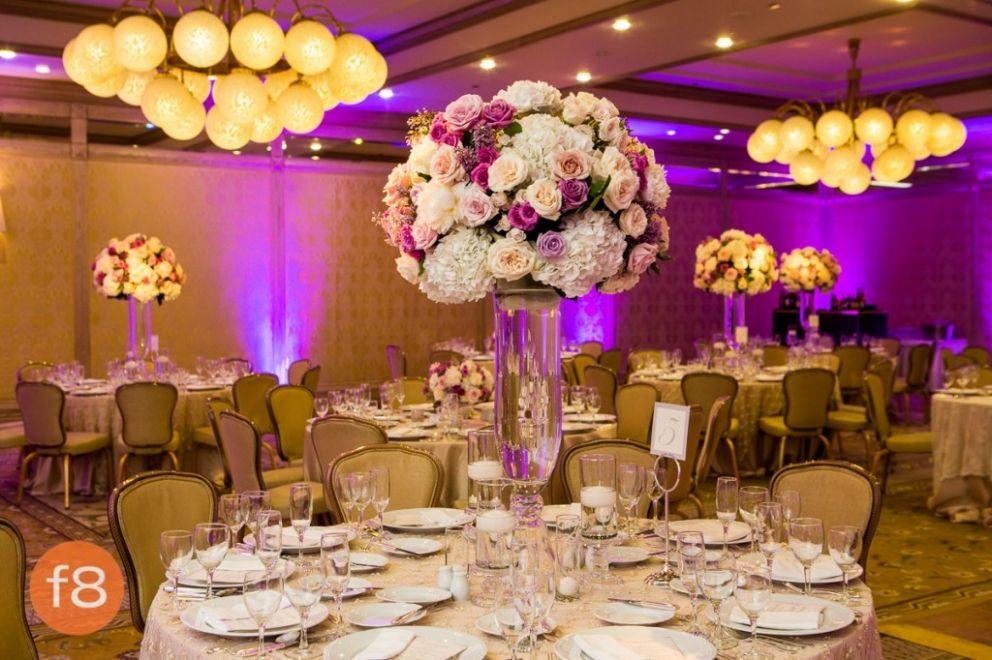 Rose And Hydrangea Tall Fl Wedding Reception Decor Four Seasons Las Colinas Texas