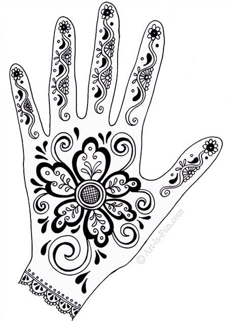 Great site for everything art. How to draw to henna. All