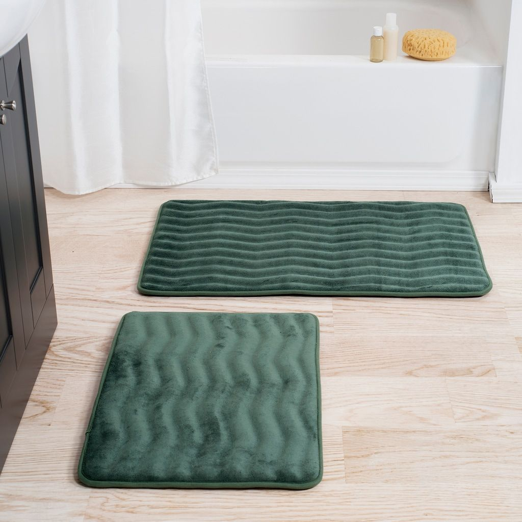 Portsmouth Home 2 Piece Memory Foam Bath Mat Set Kohls Bath Rugs Sets Memory Foam Bath Mats Bath Mat Sets