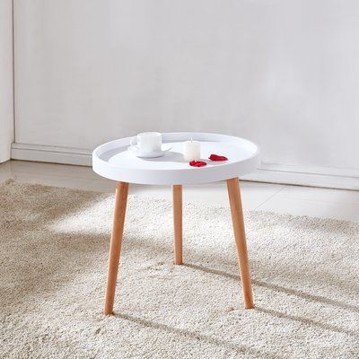 George Oliver Blocton Mini Coffee Table Table Top Color White