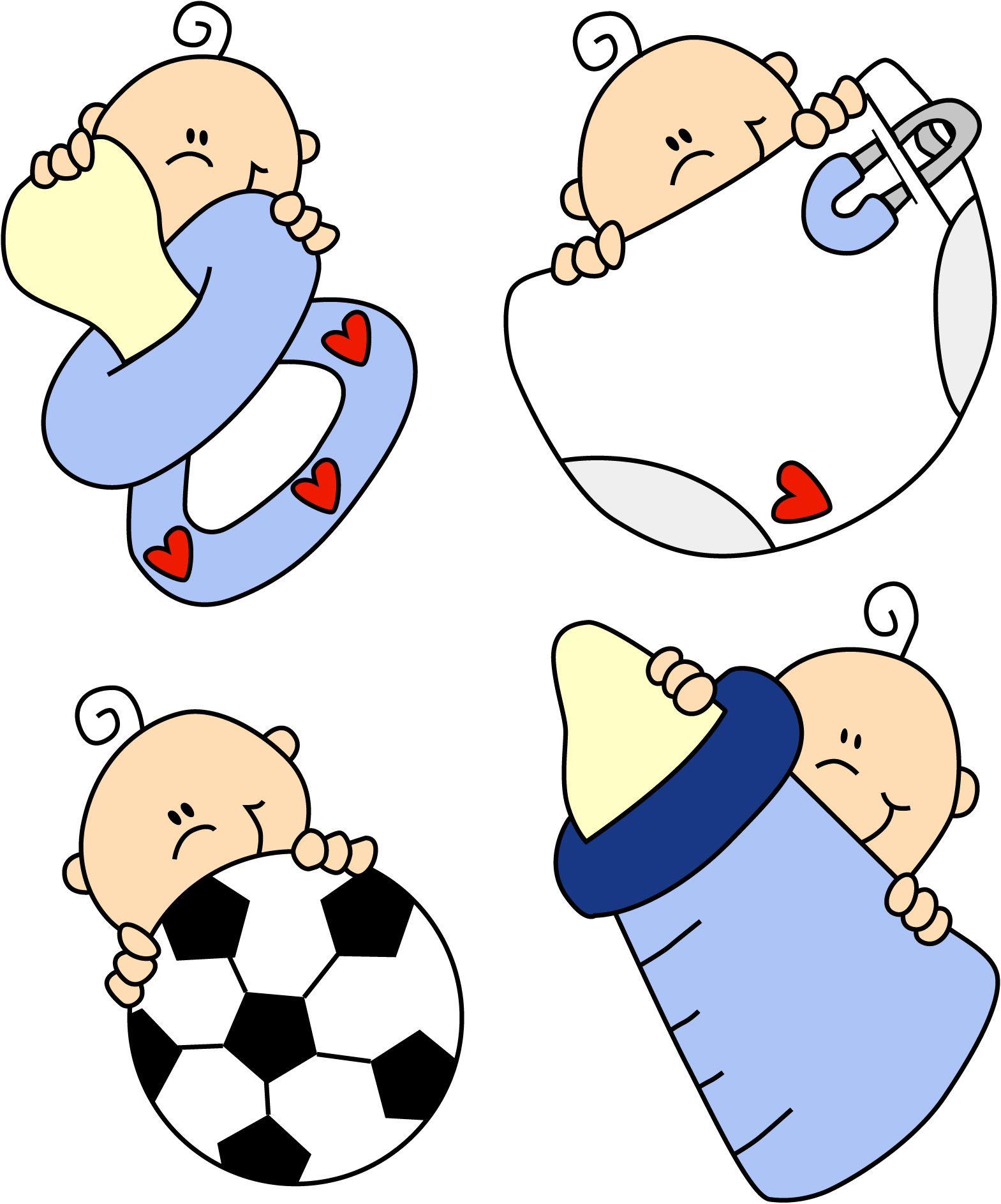Imagenes tiernas de bebes animadas para baby shower - Dibujos pared bebe ...