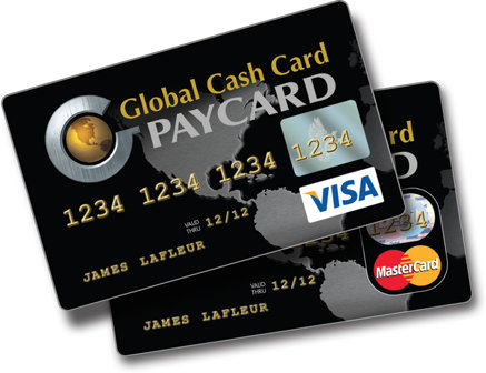 Activate Global Cash Card Prepaid debit cards, Cash card