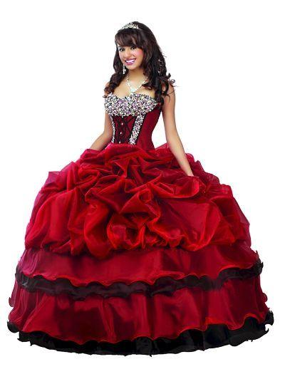 79f27ac64 Vestido de 15 años rojo vino