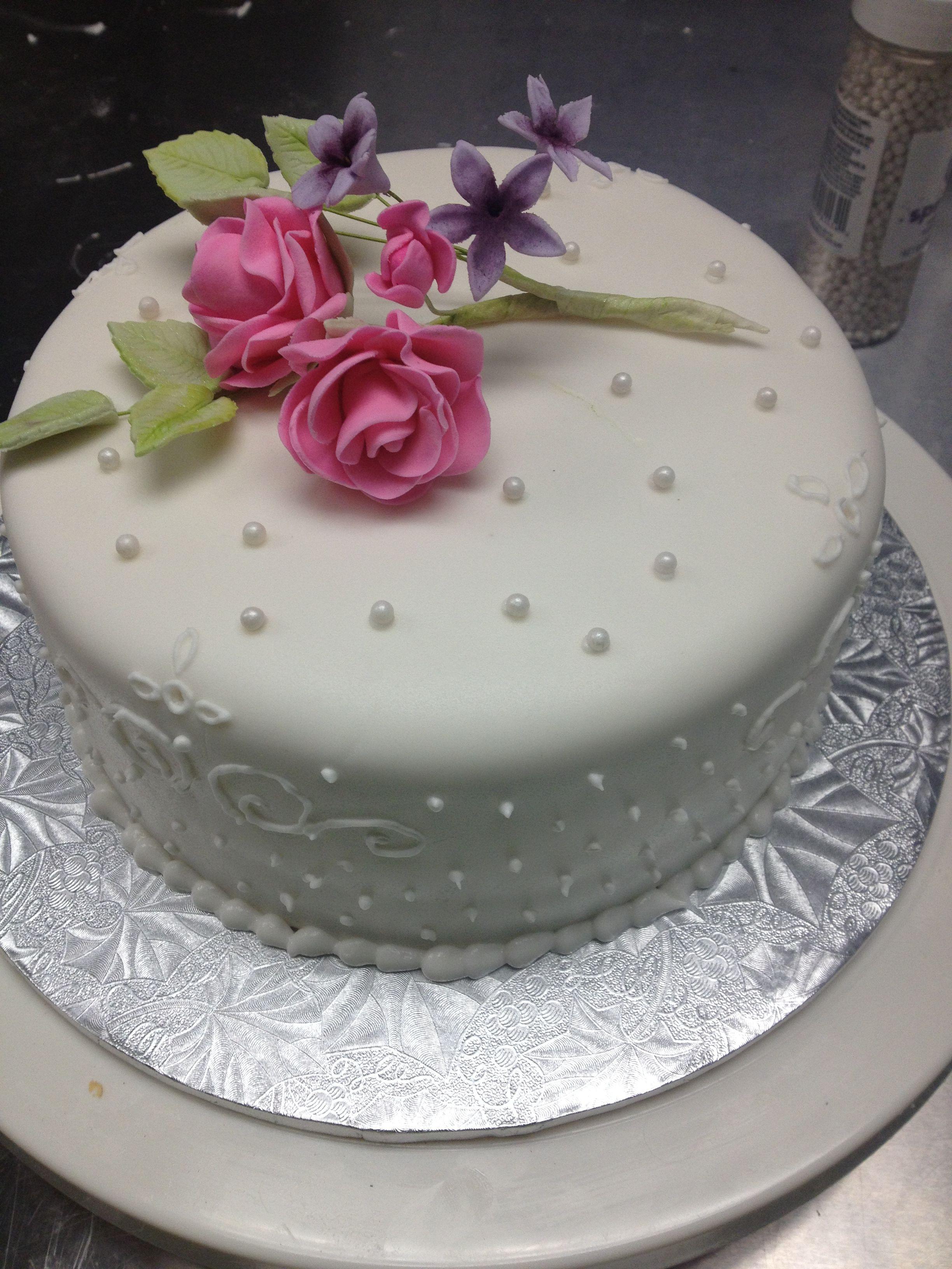 Simple but pretty cake
