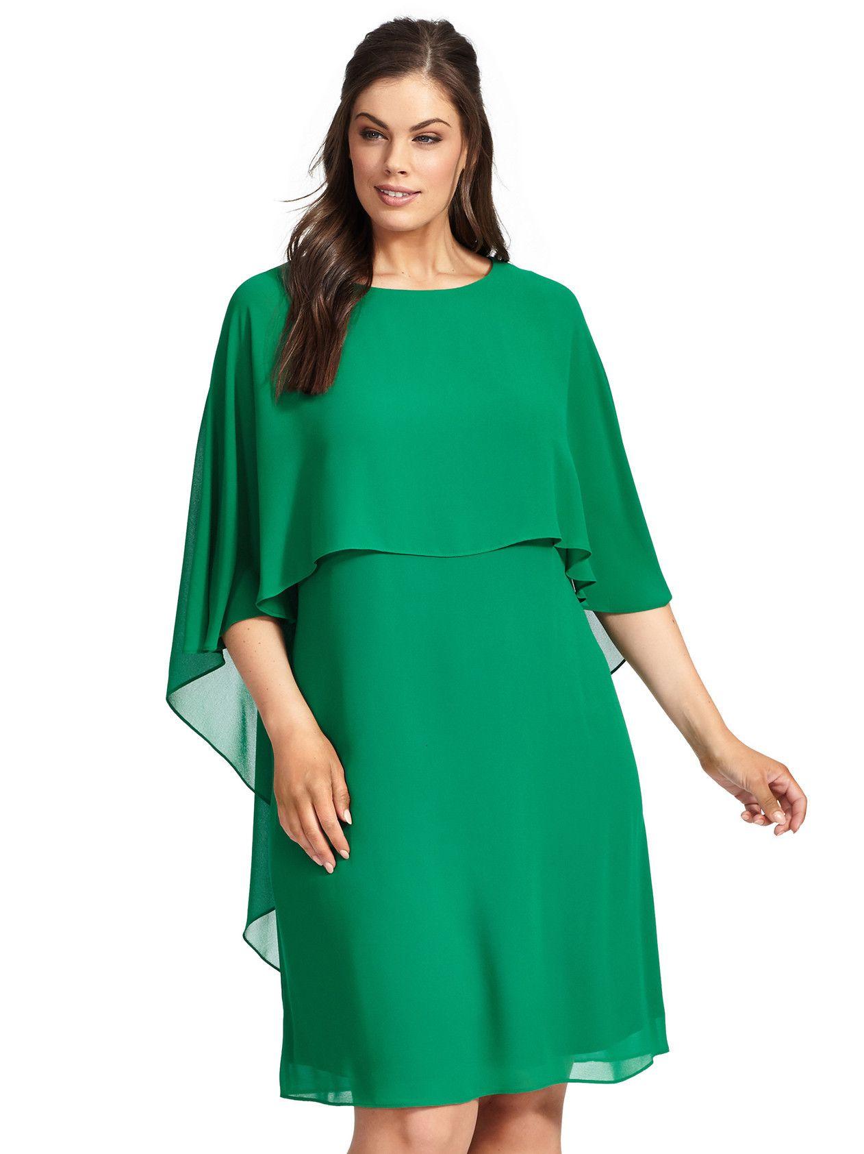 Mini Dress With Cape In Emerald Dresses Mini Dress Chiffon Shift Dress [ 1684 x 1262 Pixel ]