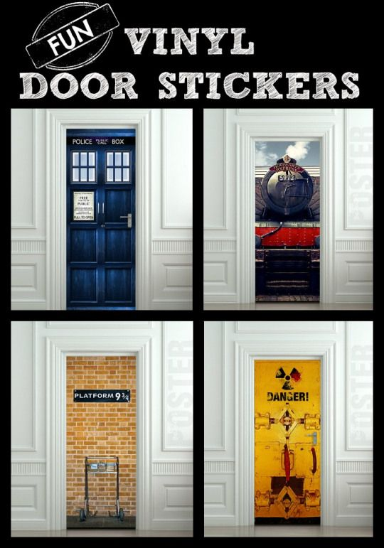 Fun Vinyl Door Stickers Easy To Ly And Remove