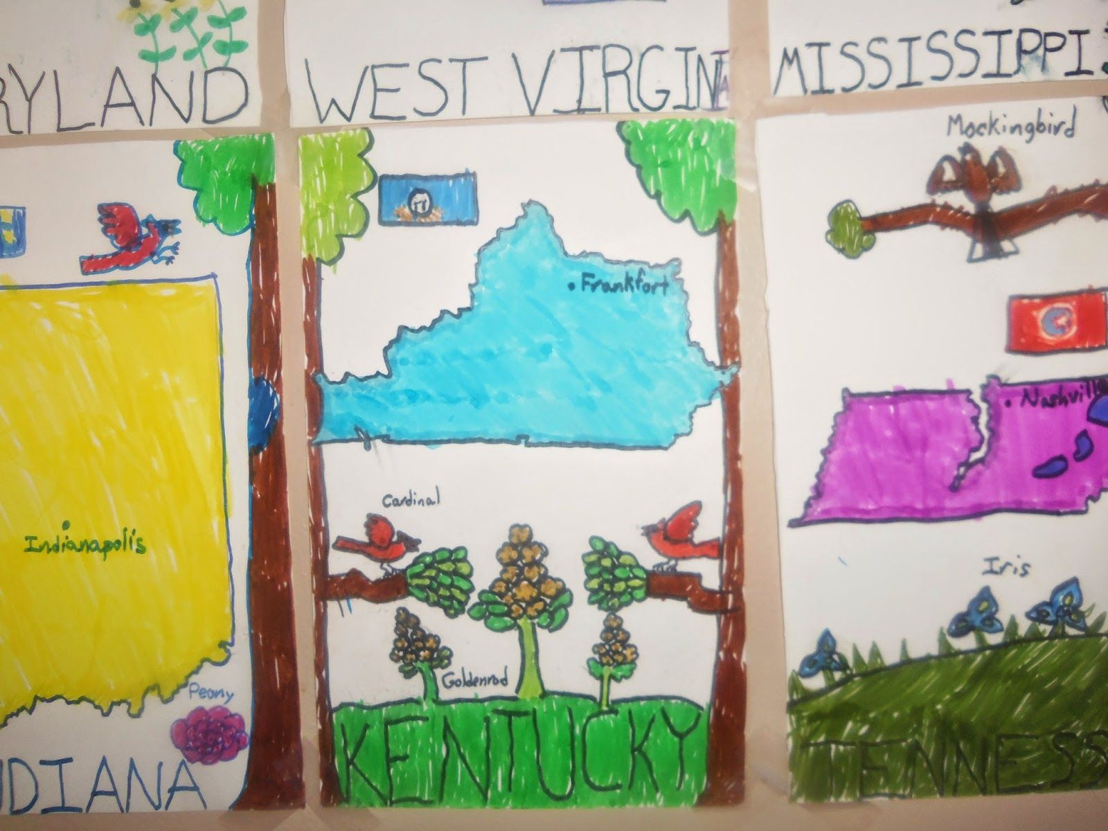 50 States And Capitals Project For 3rd Grade And A New