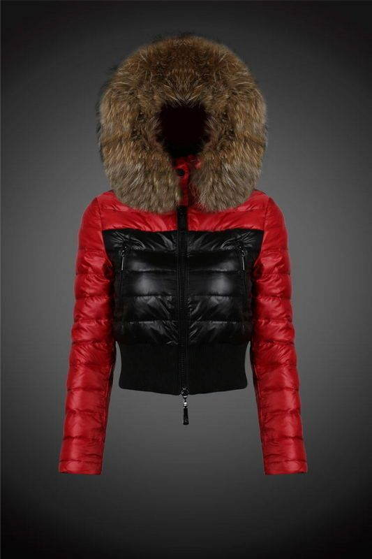 Discount 2015 Moncler Down Coats For Women With Fur Cap mc1028