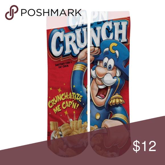 Nwt Unisex Long Tube Socks Captain Crunch Cereal Tube Socks Captain Crunch Cereal Casual Socks