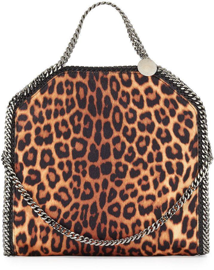 Stella McCartney Falabella Small Leopard-Print Tote Bag. SALE! ccb9e6181778c