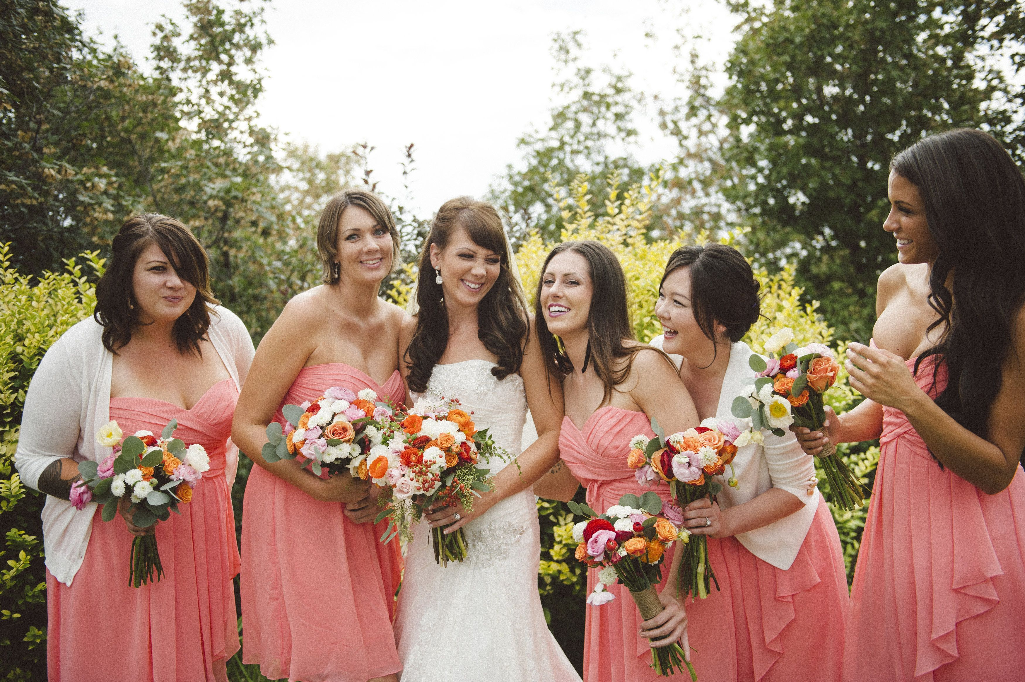 Coral reef bridesmaids dresses davids bridal my wedding bridesmaid ombrellifo Choice Image