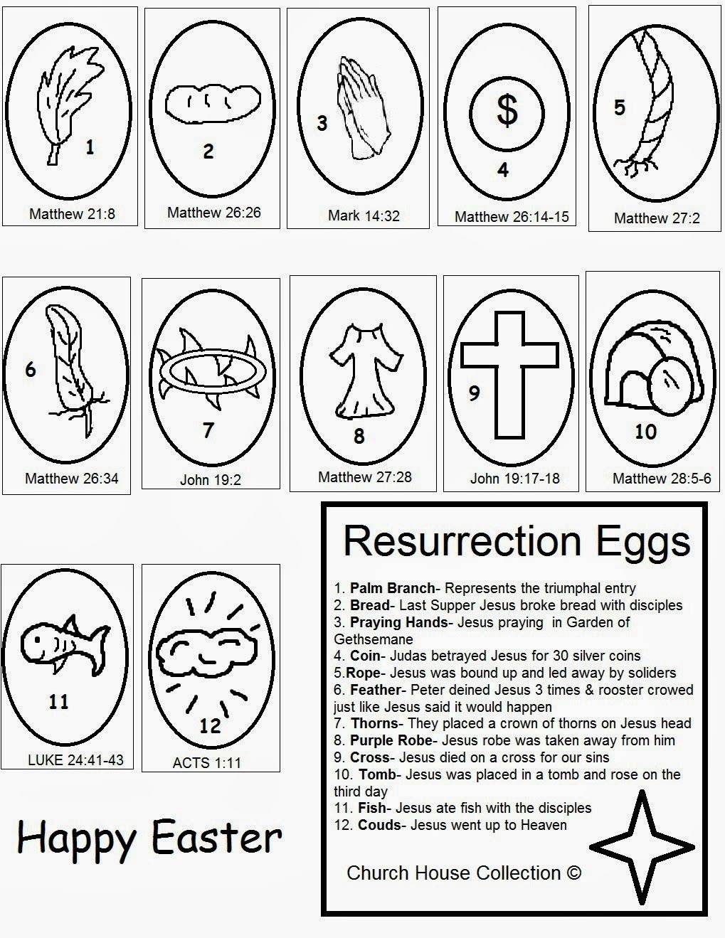 Church House Collection Blog: Easter Resurrection Eggs Craft- Free Printables