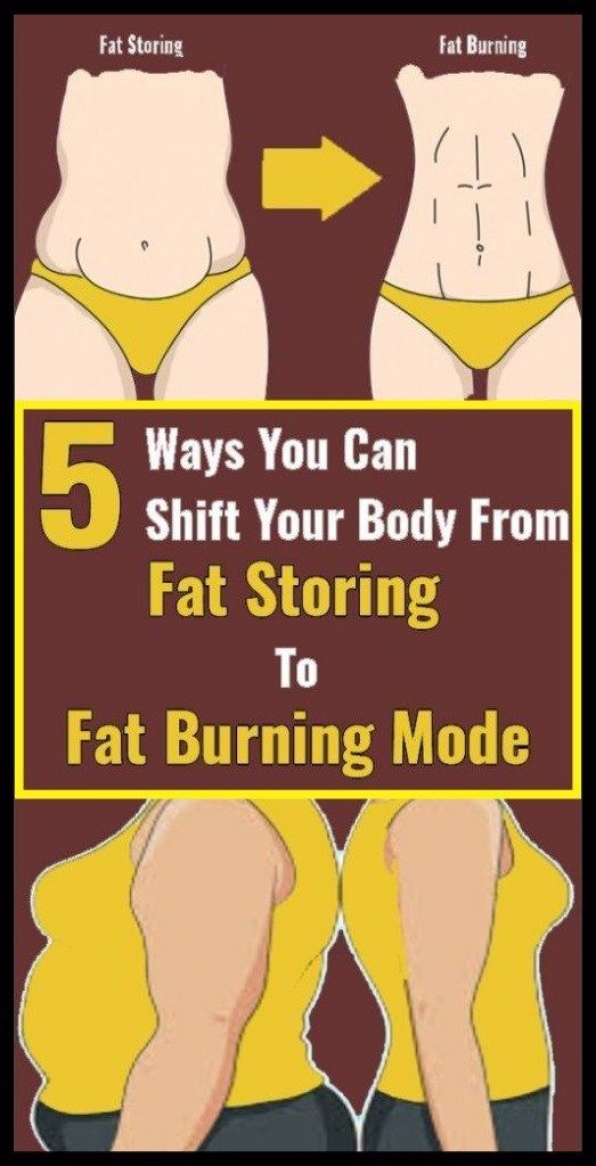 5 Ways You Can Shift Your Body From Fat Storing To