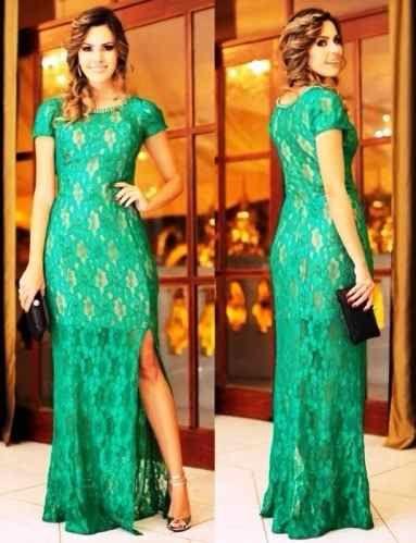 Vestido para festa cor verde