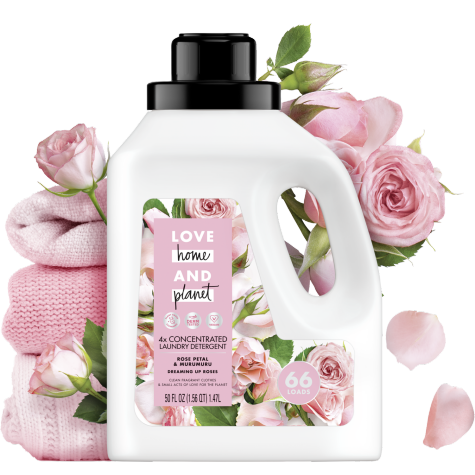 Rose Petal Murumuru Laundry Detergent Love Home And Planet In