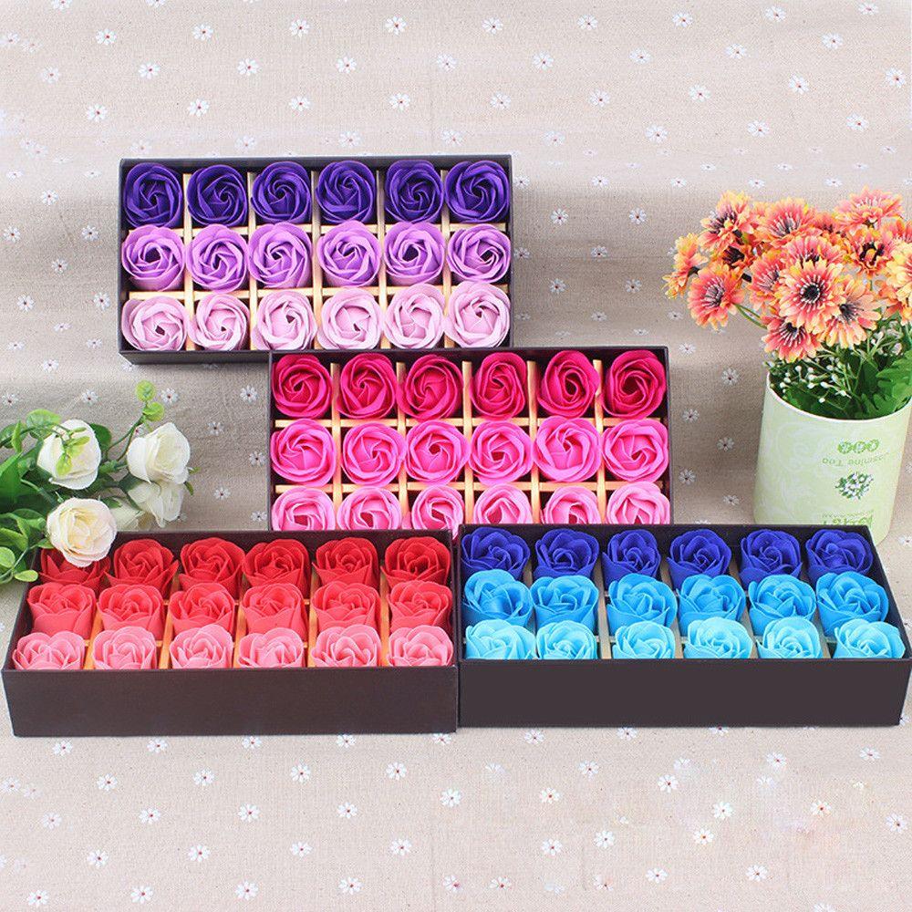 cadeau surprise 18 pcs rose fleur coeur parfum e p tales. Black Bedroom Furniture Sets. Home Design Ideas
