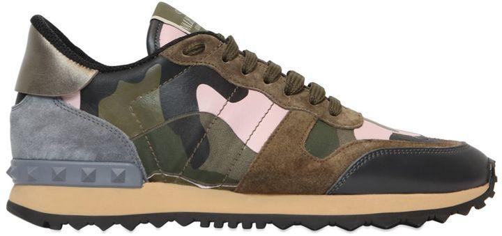 Rockstud Camouflage Sneakers - $795.00