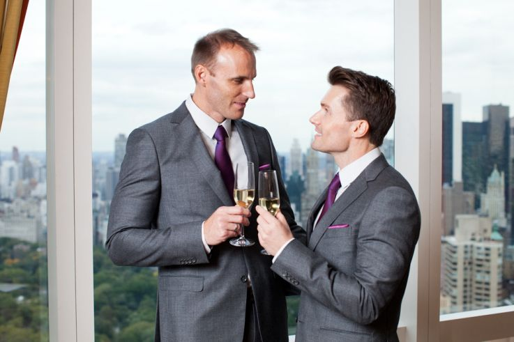 Ralph & Dave, matching suits - Christopher Shelly - Gay Wedding ...