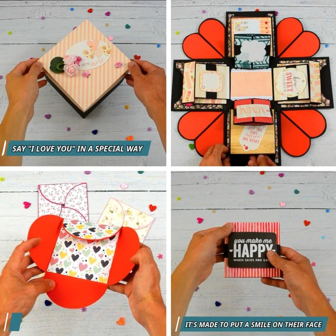 One Year Anniversary Gift Surprise Explosion Box The Gift They Ll Never Forget Video Video Anniversary Gifts Birthday Explosion Box Explosion Box