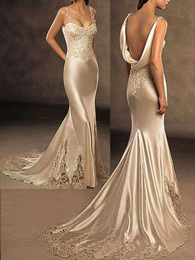 Long Silk Dresses | Silk Wedding Dresses Evening Gowns - China ...