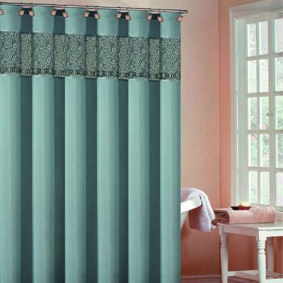 Turquoise And Brown Shower Curtain Croscill Fairfax Taupe Shower