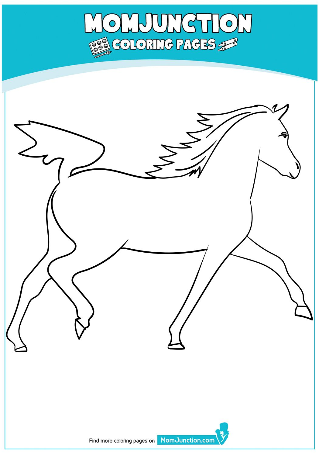 Chestnut Horse Horse Coloring Pages Coloring Pages Cute Coloring Pages