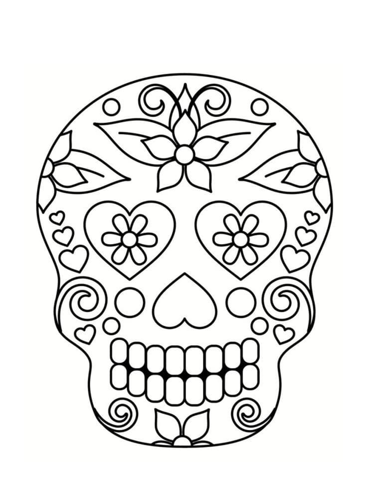 Coloriage Tete De Mort Mexicaine 20 Dessins A Imprimer Coloriage Tete De Mort Coloriage Halloween A Imprimer Coloriage