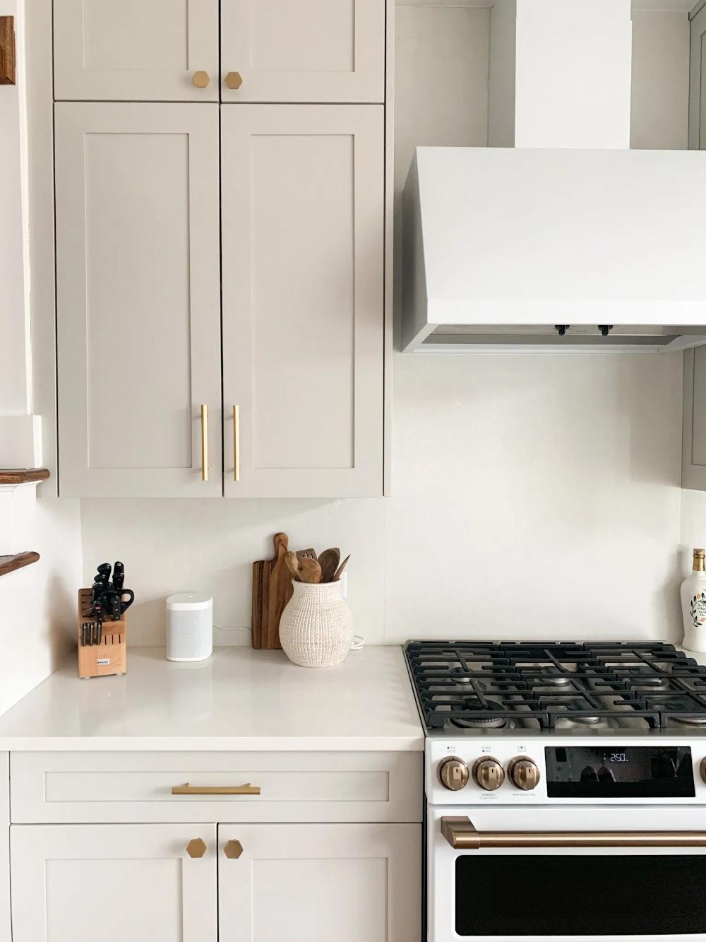 jen naye-greige cabinets kitchen remodel