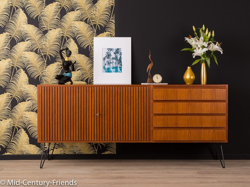vintage kommoden 50er sideboard teak 60er kommode vintage ein designerst ck von mid. Black Bedroom Furniture Sets. Home Design Ideas