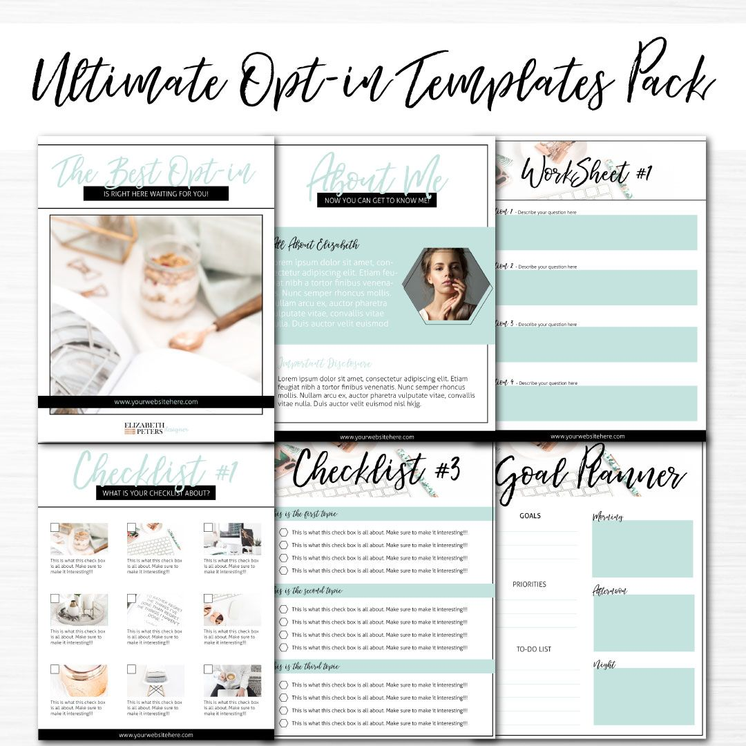 Turquoise Lead Canva & InDesign Pinterest for