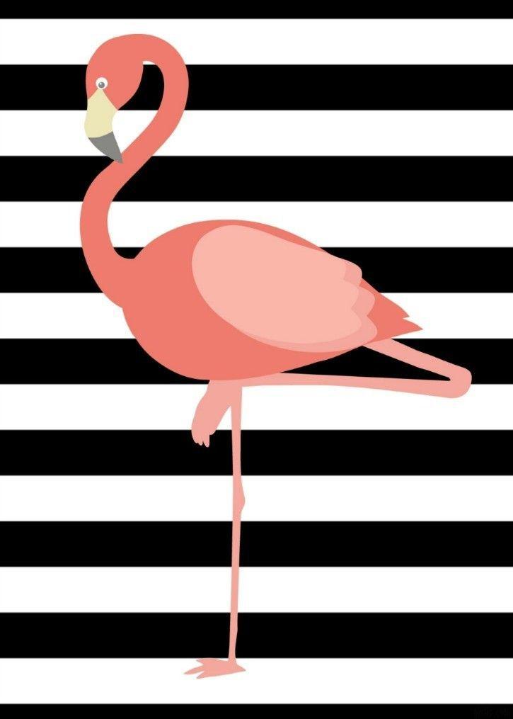 картинки фламинго для распечатки черно белые фон