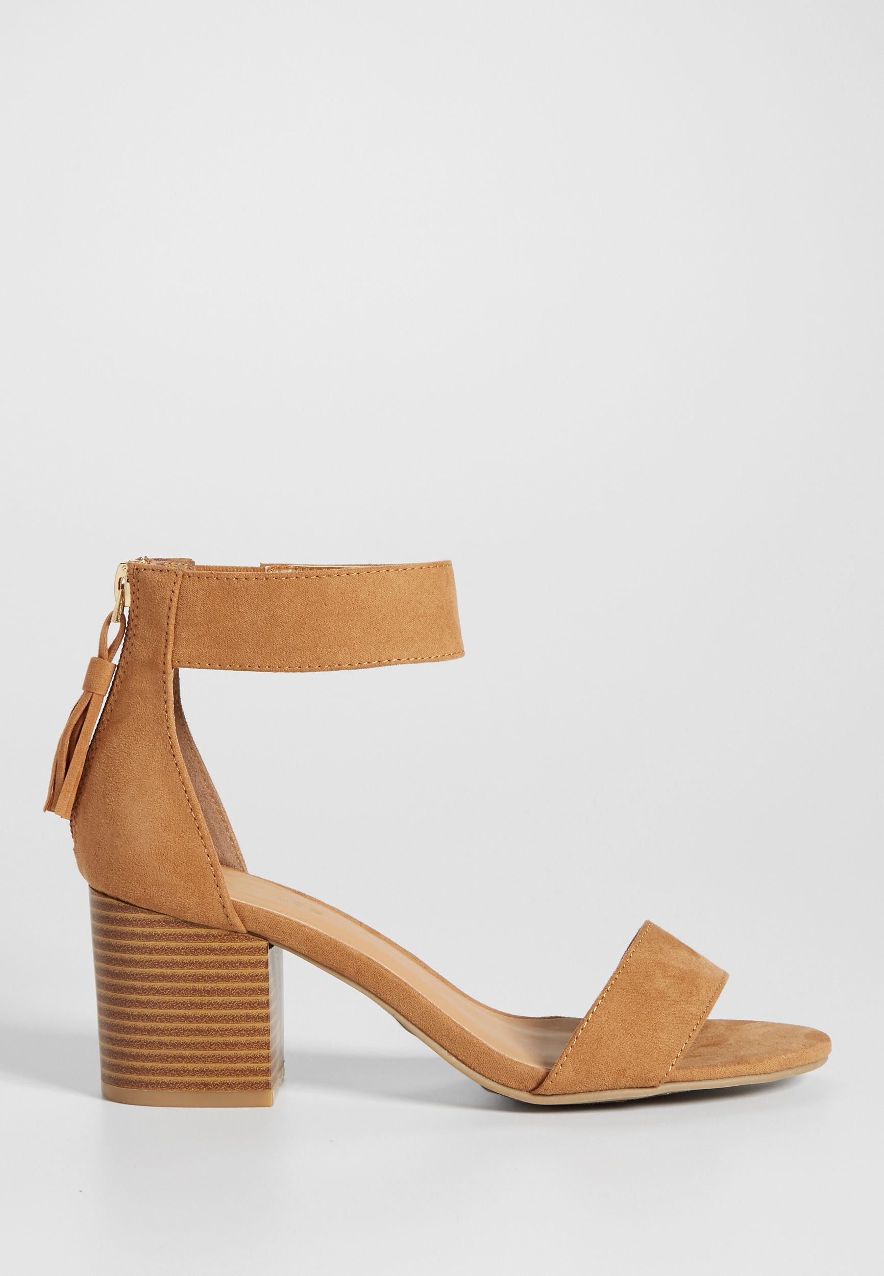 15e387e2113e Cheri faux suede block heel in tan (original price