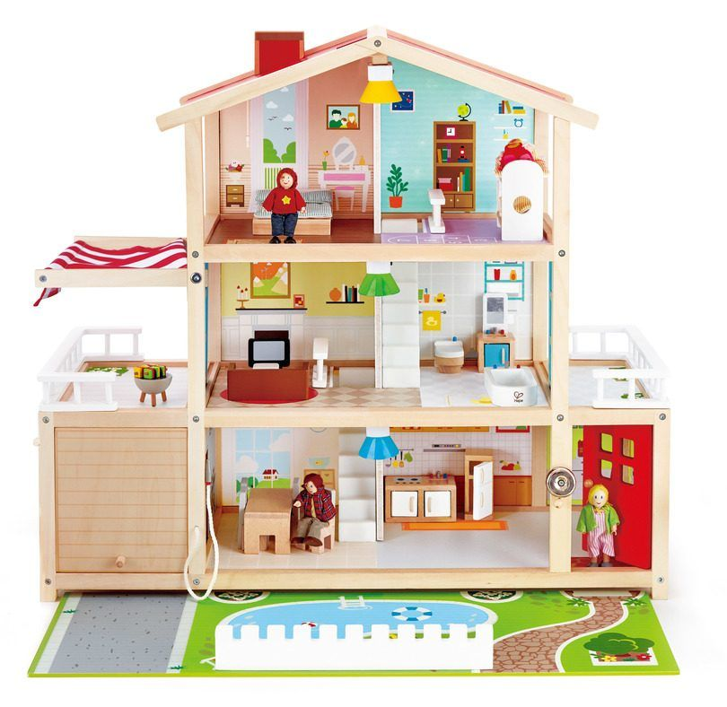 Doll Family Mansion Dolls Dollhouses Maisonette Mansion Dollhouse Doll Family Wooden Dollhouse