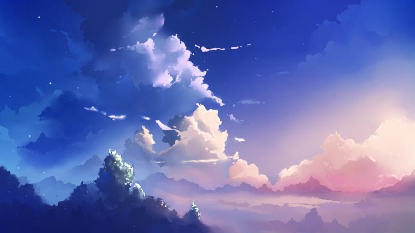 Anime Clouds Hd Wallpaper 5mpx Anime Scenery Wallpaper Anime Backgrounds Wallpapers Anime Scenery
