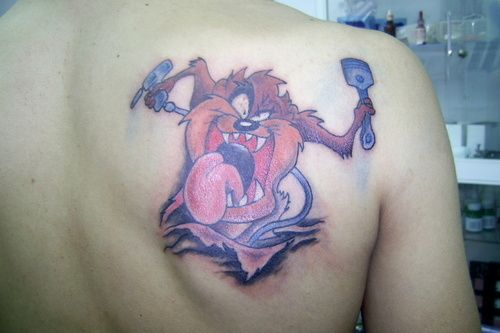 tasmanian devil tattoos cartoon tattoo designs pinterest devil tattoo taz tattoo and tattoo. Black Bedroom Furniture Sets. Home Design Ideas