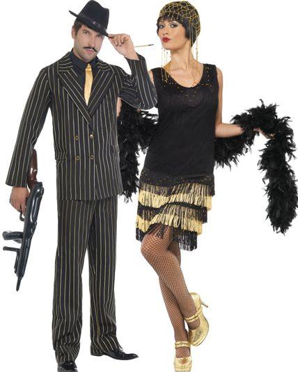 Deguisement charleston cabaret mafia gangster le carnaval pinterest - Deguisement cinema couple ...