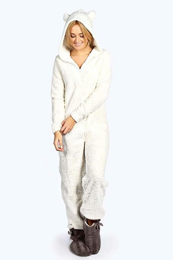 0f3354c7f23a Animal Bear Onesie Previous Next  30.00 Womens White Bear Onesie - Soft  Fleece Onesies