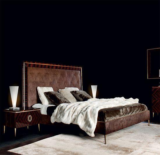 Art Deco macassar ebony bed. Designer Art Deco.   Taylor Llorente ...