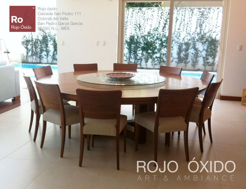 Comedor catalina redondo muebles de interior indoor for Comedor redondo de madera