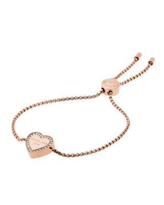MICHAEL KORS Heritage Heart Slider Bracelet. #michaelkors #bracelet