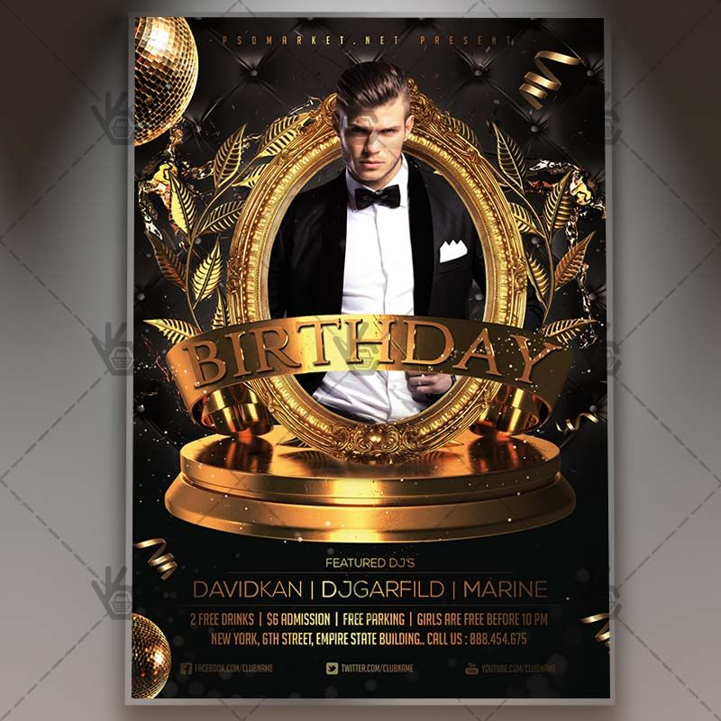 Birthday Night - Premium Flyer PSD Template #anniversary - anniversary flyer