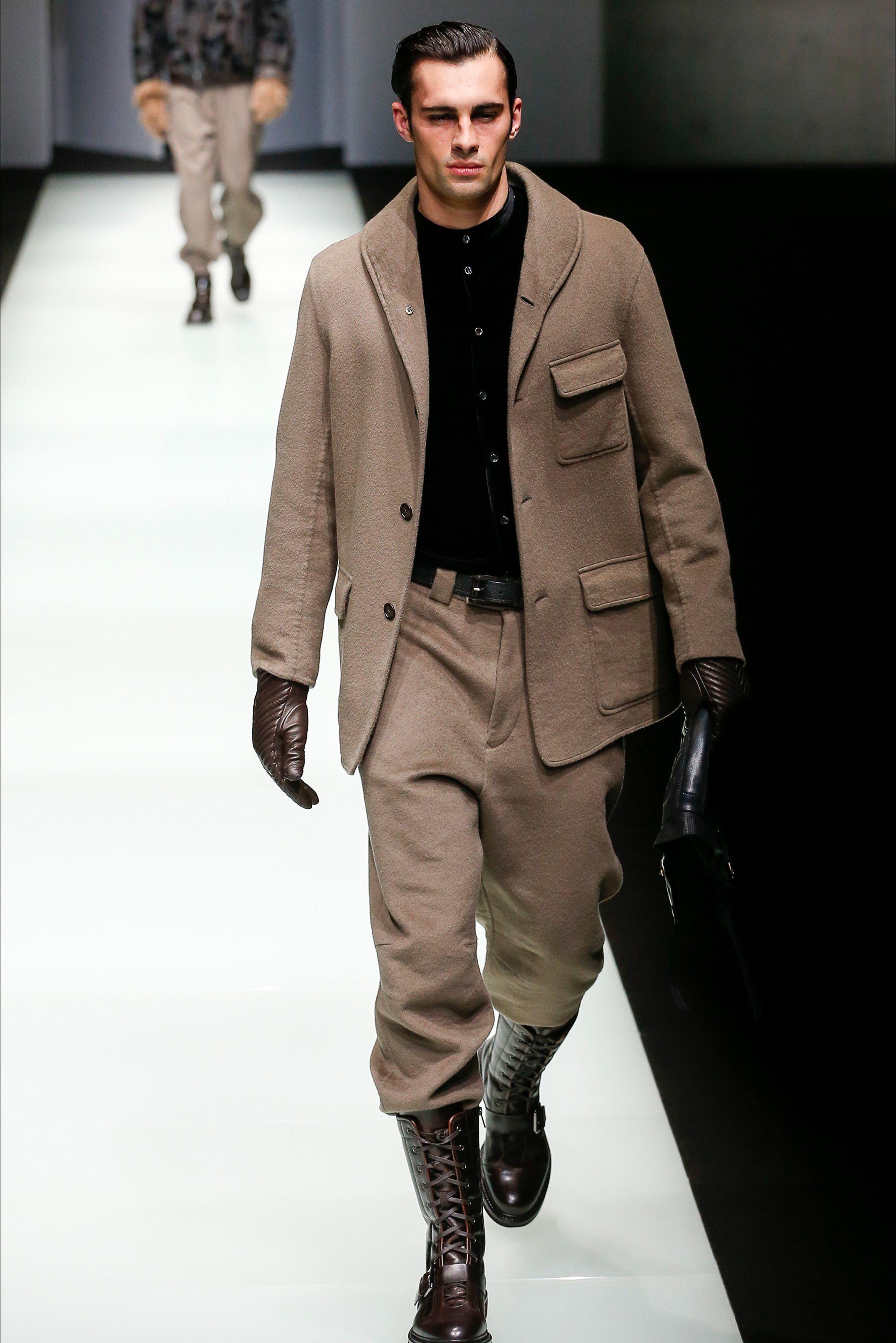 Sfilata Moda Uomo Giorgio Armani Milano - Autunno Inverno 2018-19 - Vogue 7e80fa3411d