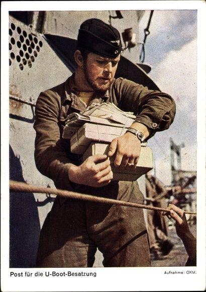 Postkarte Post für die U-Boot Besatzung, Kriegsmarine, Matrose a