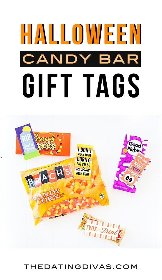 Holiday candy bar gift tags pinterest candy bar gifts halloween halloween candy bar gift tags free printables from the dating divas negle Gallery