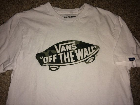 3d3844f5fd Sale Vintage VANS off the wall skull T shirt street by casualisme