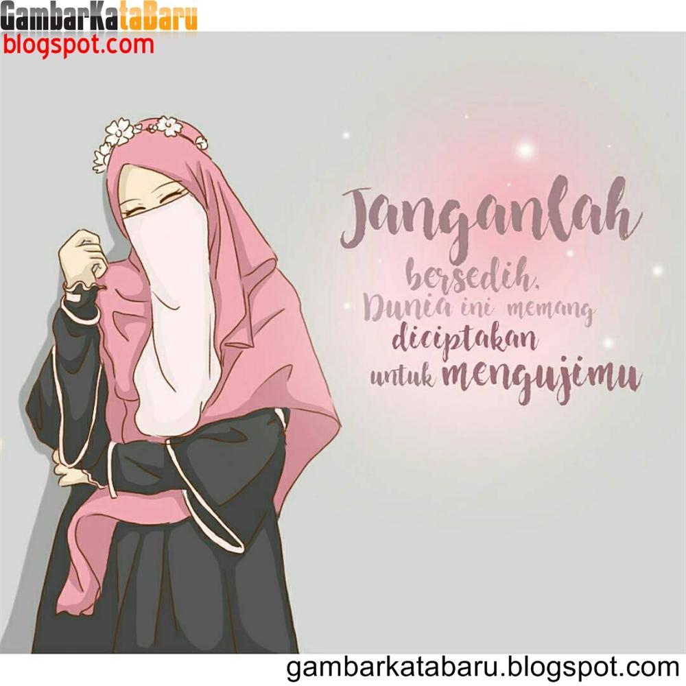 Gambar Wanita Muslimah Bercadar Cantik Dan Anggun Kartun
